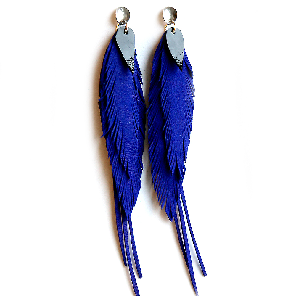 Earrings bright blue