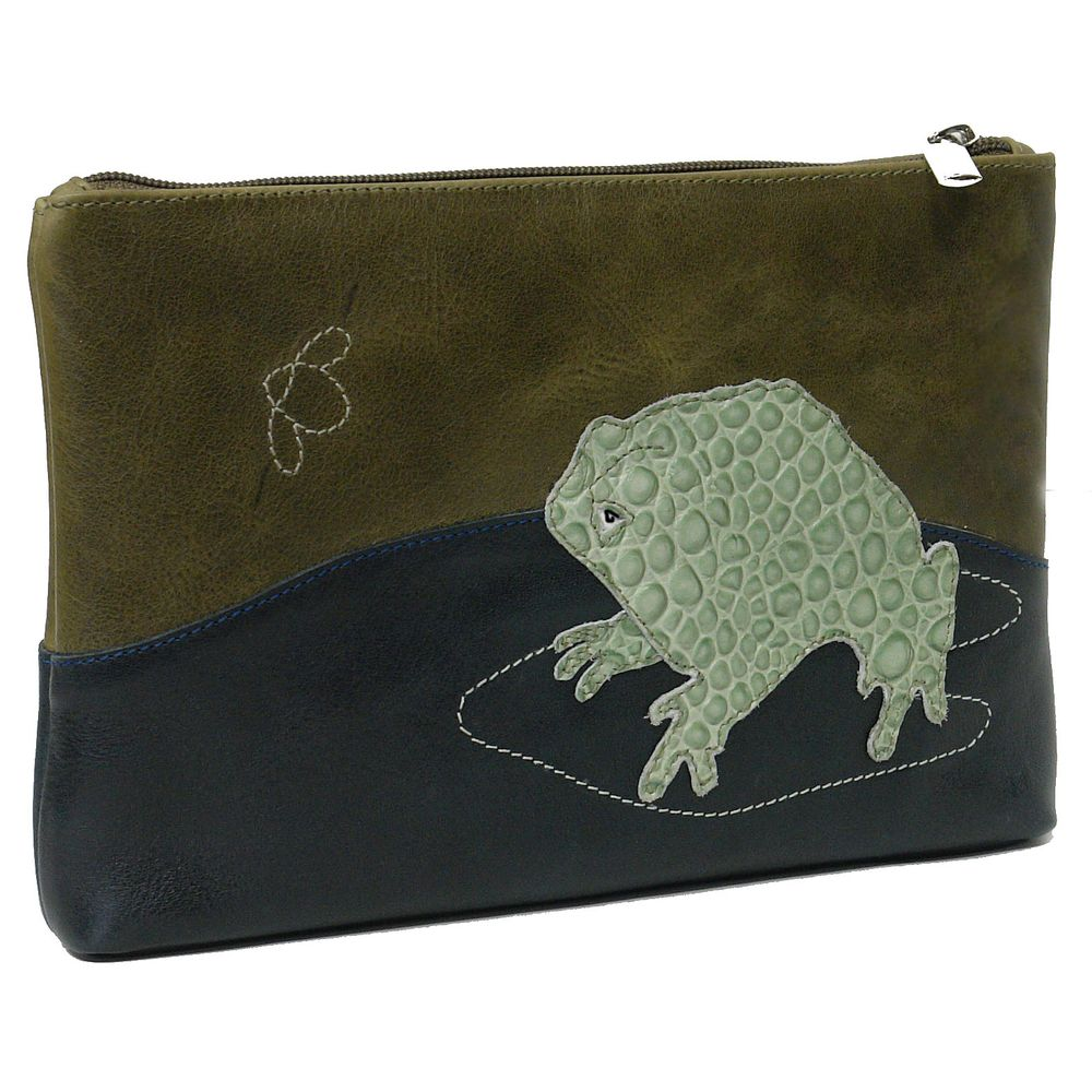 "Cosmetic bag ""Frog and bumble-bee"""